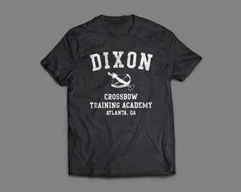 "The Walking Dead ""Dixon Crossbow Training Academy""  Shirt S-4XL and Long Sleeve Available TWD"