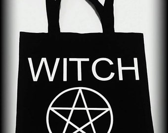 Witch tote bag, Wiccan bag, Wiccan, Wiccan clothing, Pagan tote