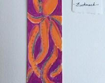 Bookmark, octopus, handmade bookmark