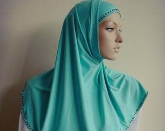 Hijab Two Piece,Al Amira style, HIjab, Scarf handmade, Cotton hijab, prayer scarf, Muslim hijab,islamic hijab, islamic scarf, eid gift ideas