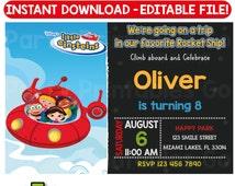 SALE-> 50% OFF Little Einsteins invitation, Little Einsteins birthday invitation, Little Einsteins party, Editable PDF, Instant Download