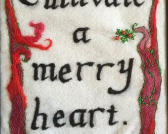 Needle Felt Calligraphy Saying