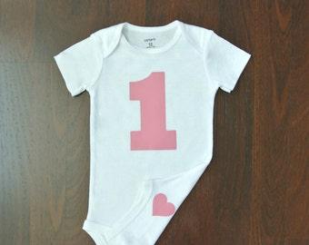 Baby Girl 1st Birthday Bodysuit - Cake Smash Bodysuit