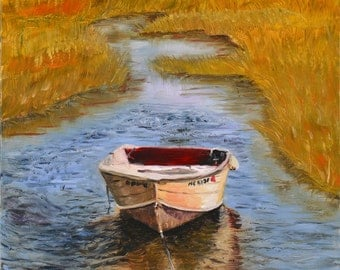 Rowboat in Creek