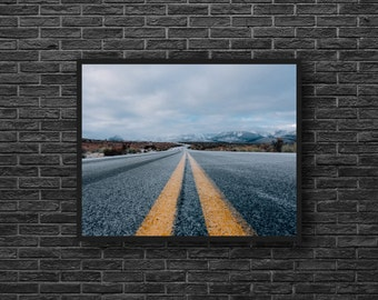 Highway Photo - Road Photo - Road Trip Photo - Highway Photography - Way Photo - Landscape - Road Wall Art - Men Room Decor - Photography