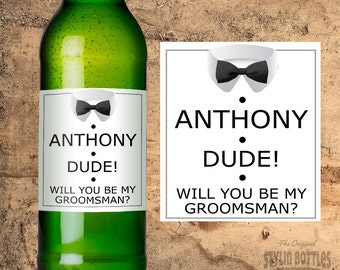 Groomsmen Gift, Wedding Gift Ideas, Will You Be My Groomsman Beer Labels, Groomsmen Gift Set, Best Man Gift, Groomsman Gift