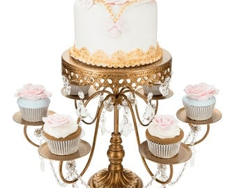 6+1 cupcake & cake stand in gold
