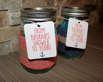 Nautical Shower Favor Tag