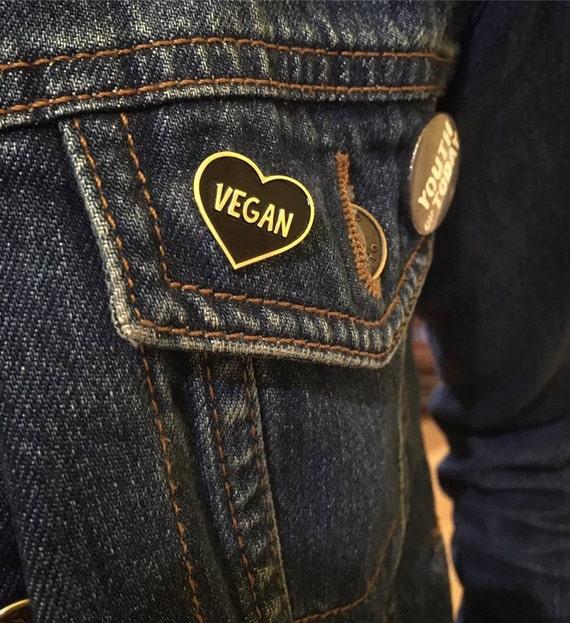 Vegan Heart Pin