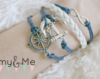 Anchor Infinity Bracelet