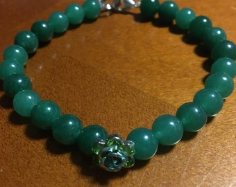 Emerald city beaded bracelet