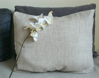 Linen Duvet cover, Single / Twin size pure flax linen duvet cover and 1 pillowcase , 100% natural flax fibre, natural bedding