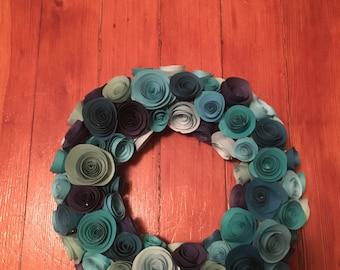 Handmade Paper Rose Wreath