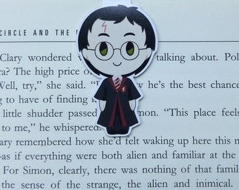 Harry Potter - Magnetic bookmark || harry potter | hogwarts | wizard | always | book lover gifts | bookmark | bookish | magnetic bookmarks