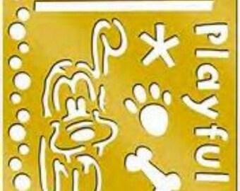 Pluto - Disney Brass Stencil - card making - kids crafts - New in package