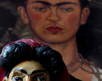 frida kahlo brooch, mexican style brooch, pin,painter.TWOPI1DB