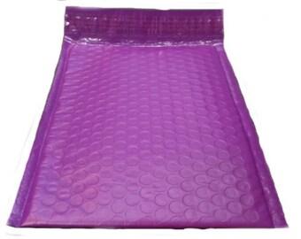25 6.5x10 Purple Poly Bubble Mailer Envelope