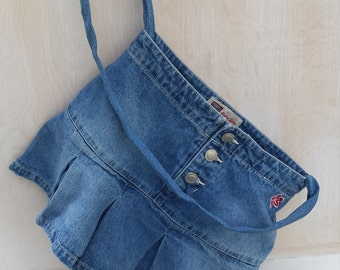 Flirty Faded Glory Jeans Skirt Purse