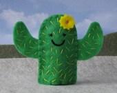 Cactus Finger Puppet - Felt Puppet Cactus - Felt Garden Puppet Cactus Succulent - Plant Finger Puppet