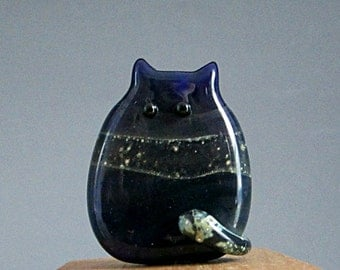 Cat Bead Handmade Lampwork Focal - Donald FatCat