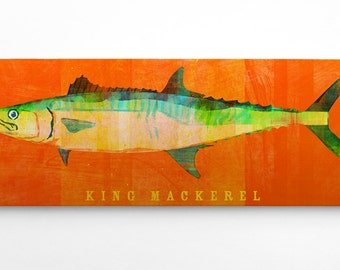 Gift Mens- Boyfriend Gift- Saltwater Fish Art Block- Fish Wall Art for Men- Gifts Dad Gift- Beach Home Decor-Dad Gifts-Fish Gift