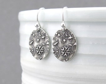 Tiny Silver Earrings Simple Silver Earrings Everyday Jewelry Sterling Silver Handmade Jewelry Mother's Day Gift for Her