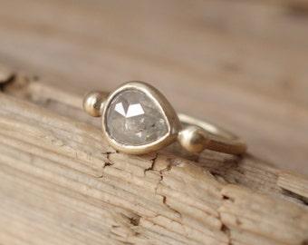 Pear Rose Cut Diamond Ring - Deposit