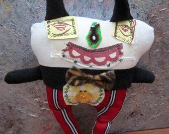 Primitive Folk Art Soft Cloth Doll Desmond Mario