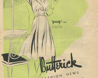 Butterick Fashion News August 1941 pattern booklet in PDF