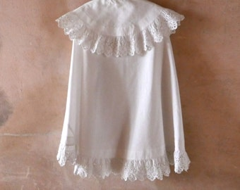 Antique White Cutwork Special Occasion Cape