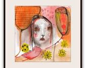 "ORIGINAL Illustration , Watercolor- Children's Illustration Art  by Christina Romeo......""State Of Language"""