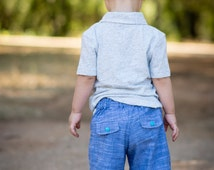 Boys Shorts Pattern - PDF Sewing Pattern - Shorts Pattern with Pockets 1 to 10 years