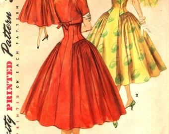Simplicity 1571 Figure Molding, Wasp Waist Dress with Jacket circa 1956