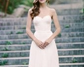 Lace and Tulle Drop-waist wedding gown: Everest