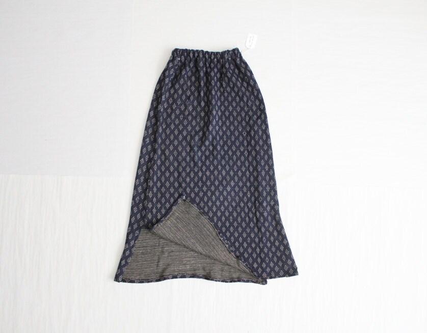 blue knit skirt print skirt knit skirt