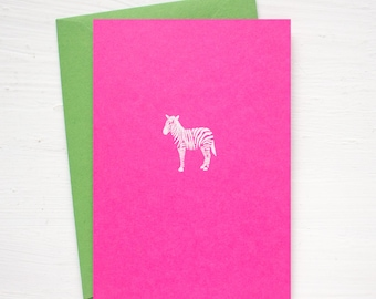 ZEBRA folded notecards