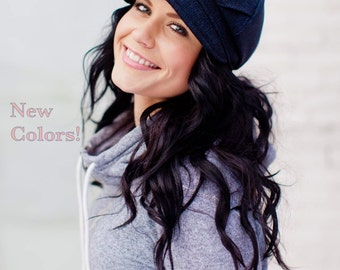 Womens Hat NEW COLORS Chevron Tucks Wool Cap Gifts For Her Winter Hat Womens Gifts