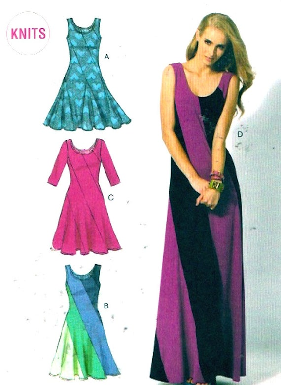 Knit Dress Sewing Pattern : Items similar to Knit Summer dress sewing pattern McCalls ...