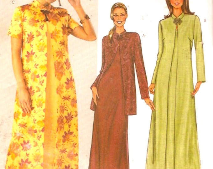 Dress Duster Jacket Plus size Mother of the Bride Wedding sewing pattern Butterick 3910 Fast and Easy Sz 20 to 24 UNCUT