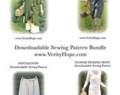 Four pdf dress patterns / downloadable dress sewing pattern bundel / Save 20%