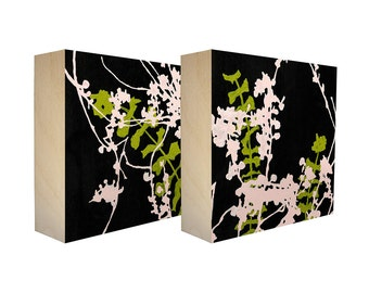 set of 4 art blocks limited edition botanical prints on. Black Bedroom Furniture Sets. Home Design Ideas