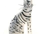 Original cat painting pet portrait - 100 Curious Cats - No. 43