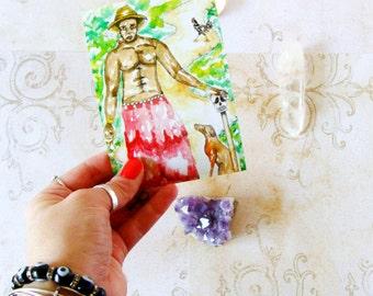 Fantasy Art Papa Legba Altar Art Voodoo Art Prayer Card Hoodoo Eleggua Art Pagan Art Spiritual Art Voodoo Print Santeria Art Voodoo Altar