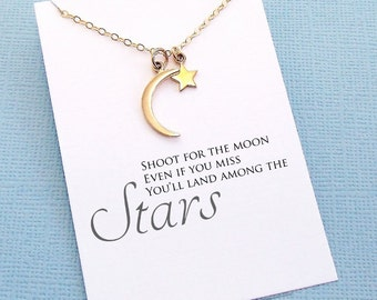 Graduation Gifts | Crescent Moon Necklace, Graduation Gifts, Student Gifts, Class of 2017, Graduation Gifts, College Student Gift | G09