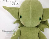 Handmade Plush Monster, Winged Dragon Baby Beastie Doll