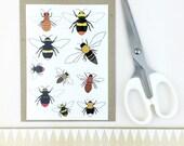bee temporary tattoos - wildlife / nature body art - bumblebee illustrated realistic fake tattoo