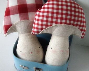 Handmade Cloth Doll, Eco Friendly Doll, Plush Toy, Cloth Doll, Fabric Rag Doll, Mushroom Plush, Mushroomie