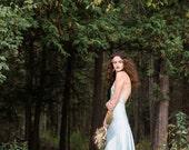 Something Blue Backless Silk Wedding Dress - Sarah