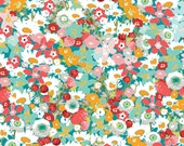 Lavish fabric, Green Fabric, Floral fabric by Katarina Roccella, Lavish by Art Gallery fabrics, Flowered Medley, Quilting fabric