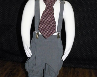 Infant Boys Knicker set 9/12 months size. Ready to ship 3 piece suit set